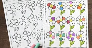 flower-fraction-worksheets