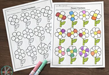 flower-fraction-worksheets