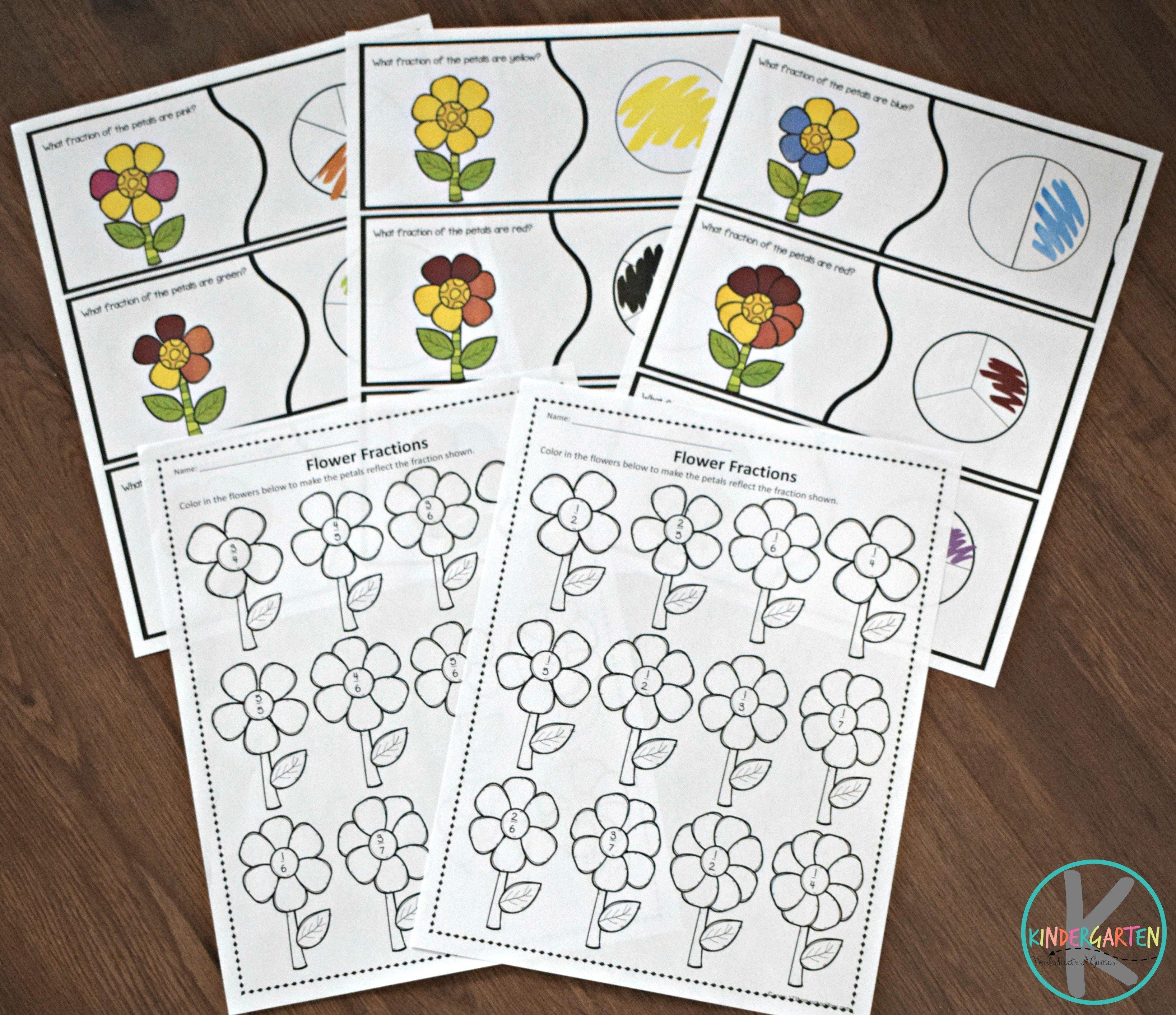 flower-fractions-practice
