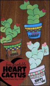FREE printable Valentines Day craft for toddler, preschool, prek, and kindergarten age kids
