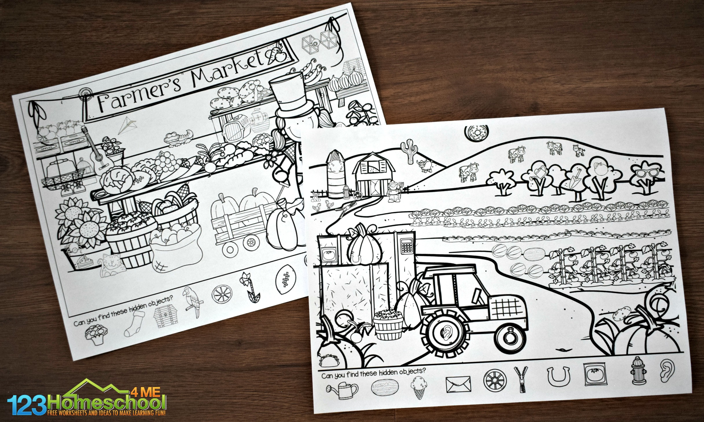 picture about Find the Hidden Picture Printable named Absolutely free Farm Concealed Consider Kindergarten Worksheets and Game titles