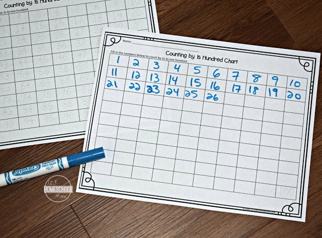 use our free printable skip count chart to help kindergarten, first grade, 2nd grade, 3rd grade, 4th grade, 5th grade, and 6th grade kids practice with no prep math worksheets