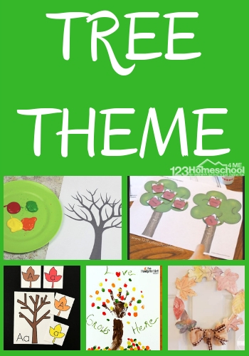 TREE Theme - tons of fun, clever, and free math and literacy activities for elementary age kids to learn all week long. #themes #arborday #trees