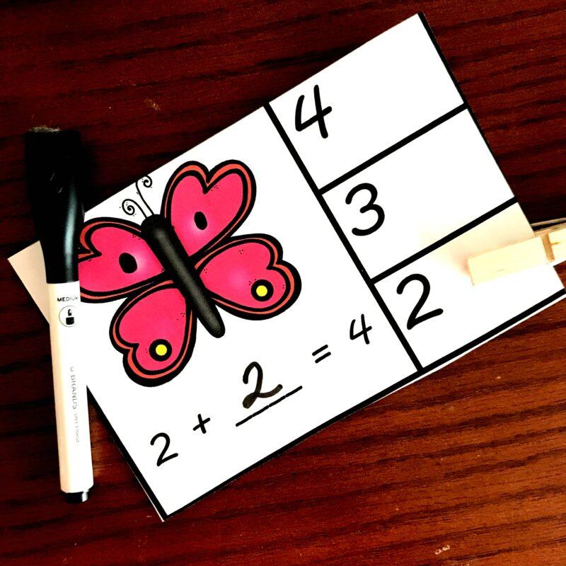 spring math game kindergarten and first grade