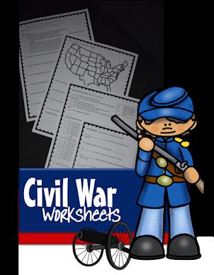 Civil War Worksheets for Kids