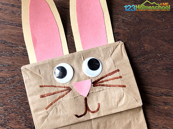 draw the whiskers on the Easter crafts for kids