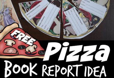 Looking for a fun, clever, and EASY book report idea? You will love these clever, free printable pizza reading comprehension slices. Not only do they help kids summarize what they read, but they are a great way to motivate kids to read  and understanding what they've read. Fun resource for parents, teachers, and homeschoolers of kindergarten, first grade, 2nd grade, 3rd grade, 4th grade, 5th grade, and 6th grade students.