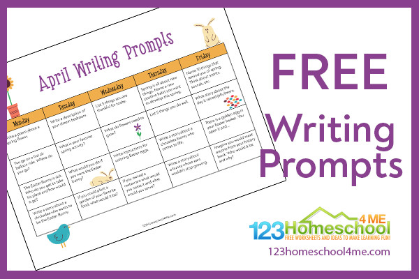 FREE April Creative Writing Prompts