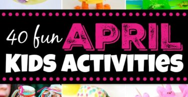 40 fun April Kids Activities! So many fun spring activities including frogs, rainbows, rain, easter, and more! #kidsactivities #spring #preschool