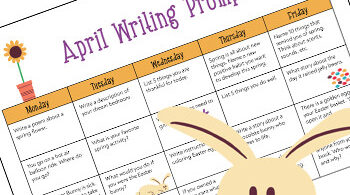 FREE April Writing Prompts Calendar - so many fun, creative writing ideas with a simple creative writing ideas for elementary age kids #writing #creativewritingprompts #writingprompts