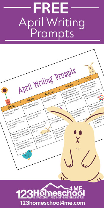 Tps Calendar.April Writing Prompts Calendar 123 Homeschool 4 Me