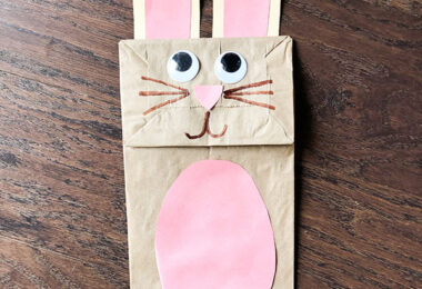 Super cute finished bunny craft for kids to make in April