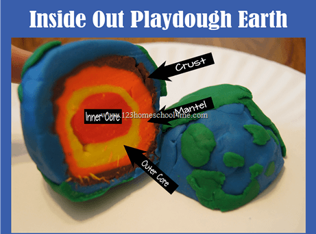 This fun earth day playdough project helps kids explore the layers under the surface