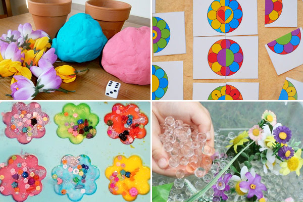 So many really cute and fun to try flower activities for kids