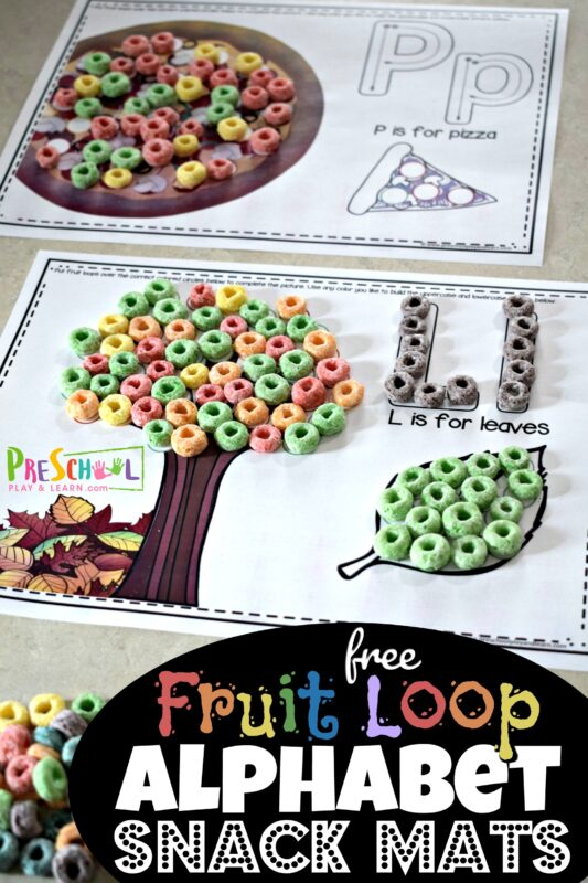 Fruit Loop alphabet Snack Mats