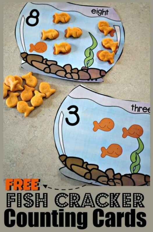 FREE Goldfish Counting Bowls - Make practicing counting to 10 fun with these adorable FREE Goldfish Counting Bowls. These are a great activity for toddler, preschool, and kindergarten age kids!