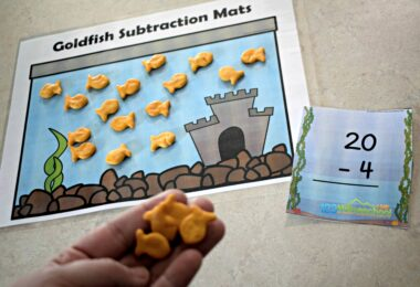This is such a fun kindergarten math activity that uses goldfish crackers