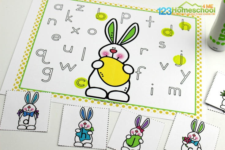 This is such a fun Easter theme letter recognition activity