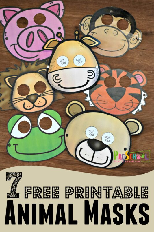7 adorable animal masks perfect for celebrating zoo day