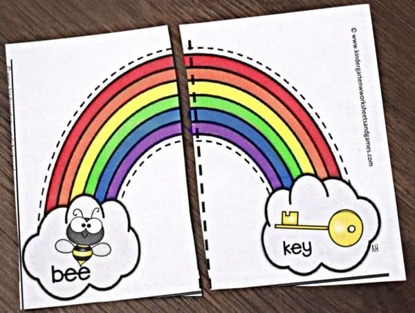 FREE Rhyming Rainbows Puzzles