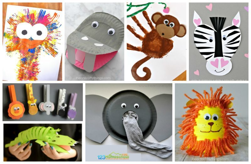 So many really cute and adorable zoo crafts fro preschoolers