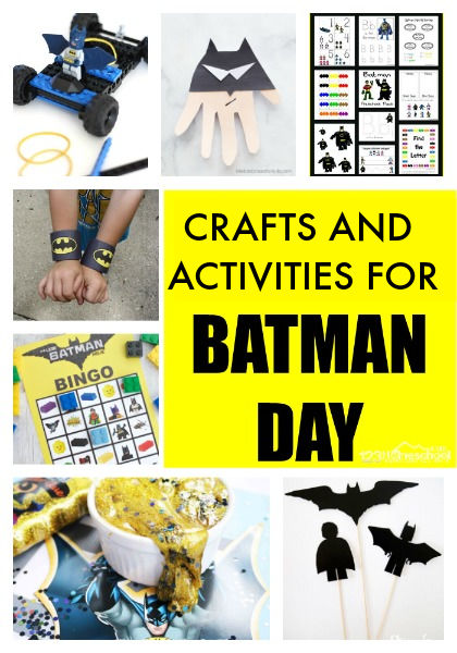 Have fun with your superhero fan with these Batman crafts and Batman activities perfect for National Batman Day on September 15. These crafts inspired by Batman are perfect for toddler, preschool, pre k, kindergarten, first grade and 2nd grade children celebrating Batman Day!