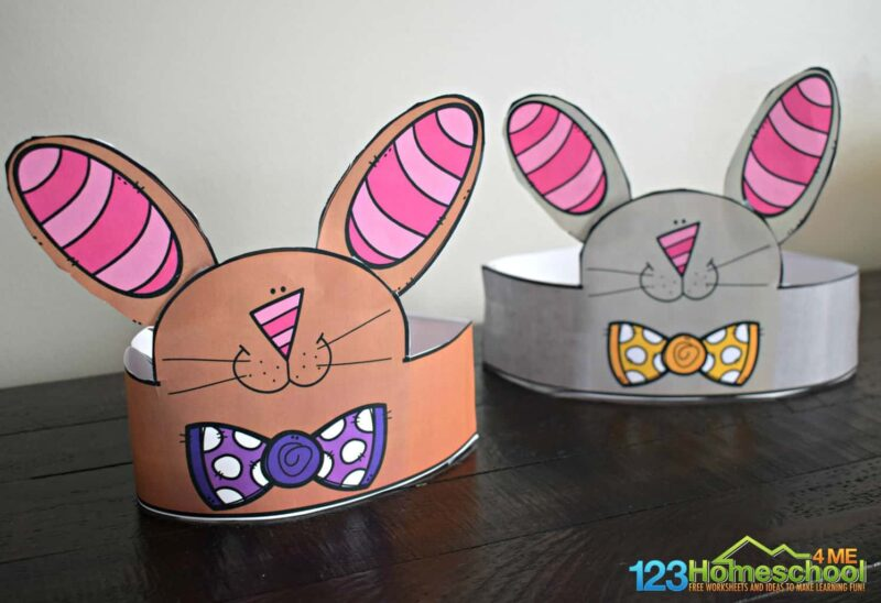 super cute, free printable Easter Hats for Toddlers, pre k, preschoolers, and kindergartners