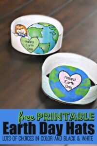 Printable Earth Day Hat