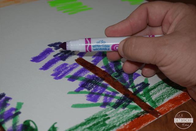 easy-marker-rain-impressionism-art-project-for-kids