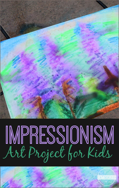 Impressionism Art Project for Kids - this is such a fun rainy day activity that allows kids to create a fun and easy rain craft that will help them explore famous artists like claude monet. Perfect for toddler, preschool, kindergarten, first grade, 2nd grade, 3rd grade, 4th grade, and 5th grade kids. #artproject #craftsforkids #impressionismforkids