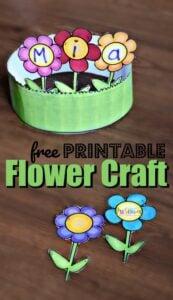 Name printable flower craft