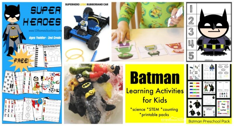 Printables and Fun Activities inspired by everybody's favorite superhero- Batman!
