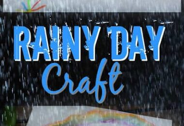 Rainy Day Craft - this is such a fun rainy day activity that allows kids to create a fun and easy rain craft that will help them explore famous artists like claude monet. Perfect for toddler, preschool, kindergarten, first grade, 2nd grade, 3rd grade, 4th grade, and 5th grade kids.