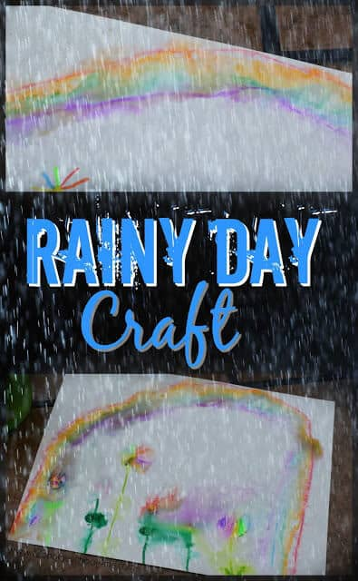 Rainy Day Craft - this is such a fun rainy day activity that allows kids to create a fun and easy rain craft that will help them explore famous artists like claude monet. Perfect for toddler, preschool, kindergarten, first grade, 2nd grade, 3rd grade, 4th grade, and 5th grade kids. #craftsforkids #springcraft #raincraft