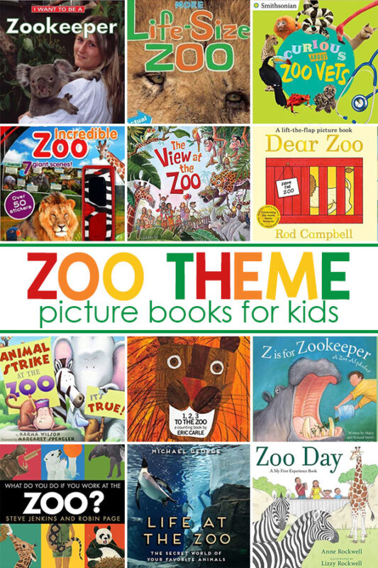 Zoo Theme Books For Kids There are so many fun ways to use zoo themed books in your learning program. You can read a different book each day of the week, Monday through Friday, or read your favorite book (s) every day of the week. Kids love repetition, so don't worry about boring them!