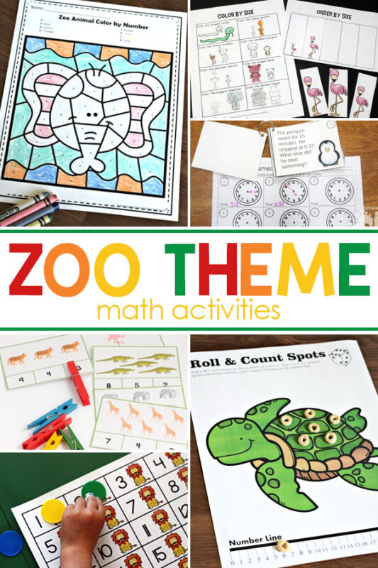 Zoo Math There are so many great zoo math activities and hands-on animal math printables  that will fit with this fun zoo preschool theme.