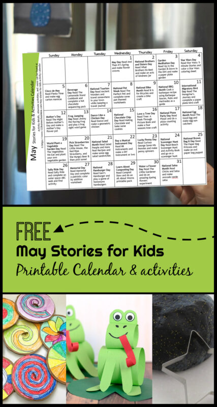 May Stories for Kids with free activity calendar - celebrate fun holidays and special days with carefully picked picture books and these creatives kids activities, crafts for kids and more! #kidsactivities #storiesforkids #holidays