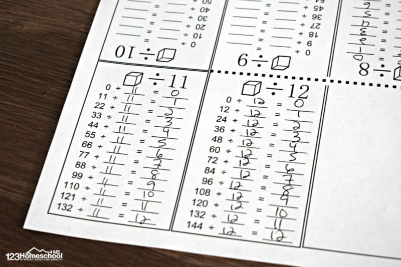 free printable division worksheets grade 4 that you can fold into a mini book