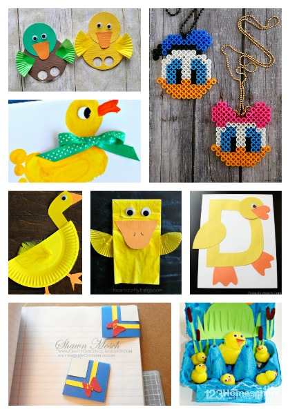 Duck Crafts to Make for Donald Duck Day!