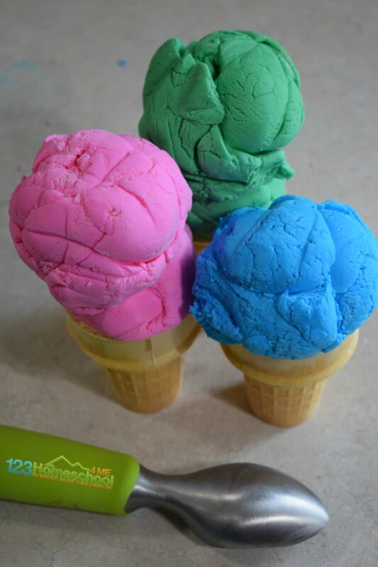 Kids will love playing and eating this edible playdough