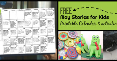Free Printable May Activity Calendar for Kids