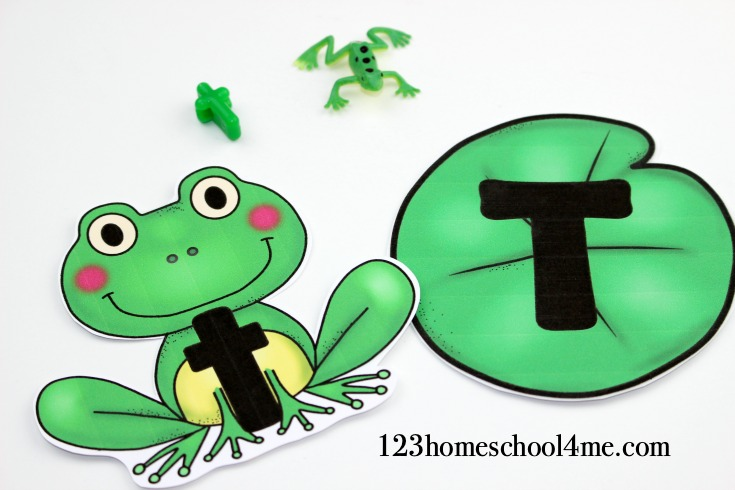 Super cute letter t frog letter match activity for early learners