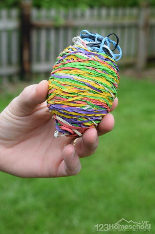 This is such a fun rubber bands activity for kids of all ages