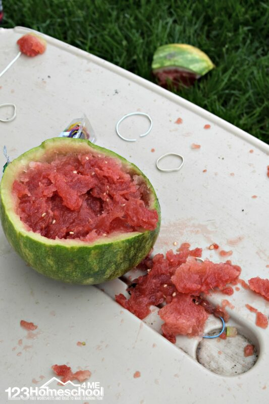 This watermelon summer science is such a fun kids activity