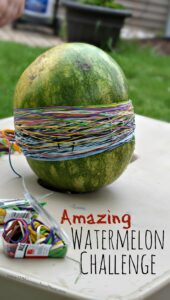 This watermelon rubber band activity is an epic science experiment for kids of all ages