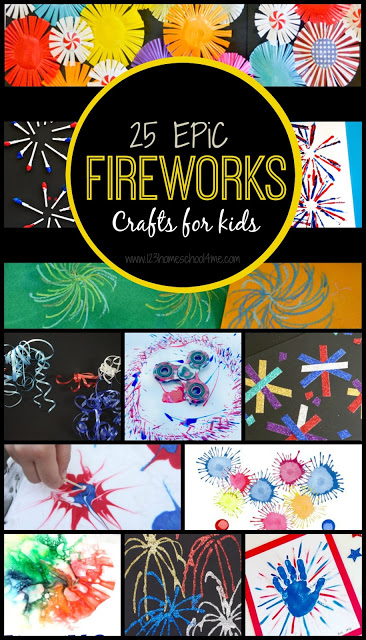 25 EPIC Fireworks Crafts for Kids - so many really creative, unique and fun firework art projects perfect for your summer bucket list! These are perfect summer crafts for summer camp, art camp, fourth of july crafts, and more for toddler, preschool, kindergarten, first grade, 2nd grade, 3rd grade, 4th grade, 5th grade, 6th grade #craftsforkids #summercrafts #4thofjuly