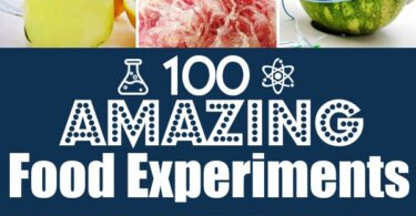 Over 100 Food Science experiments for preschool, kindergarten, first grade, 2nd grade, 3rd grade, 4th grade, 5th grade, and 6th graders to make science FUN!