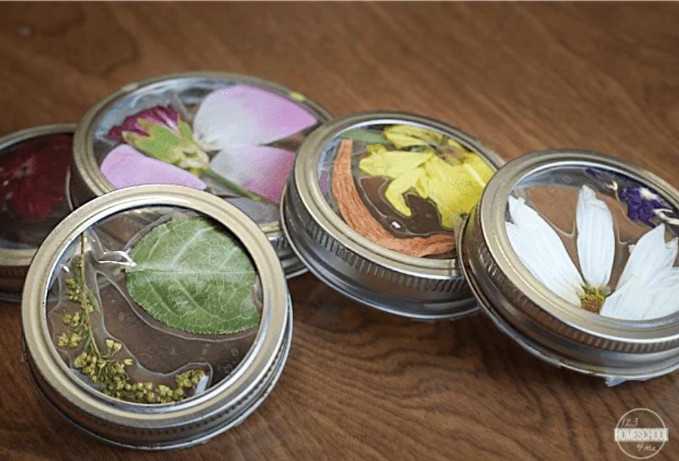 Jar lid craft ideas