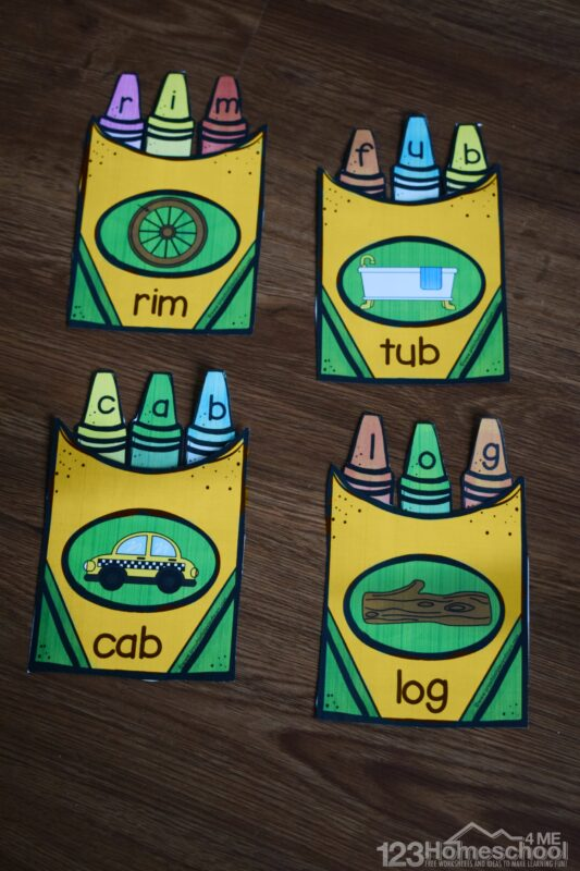 FREE Back to School Printables - super cute activity to help kids practice spelling