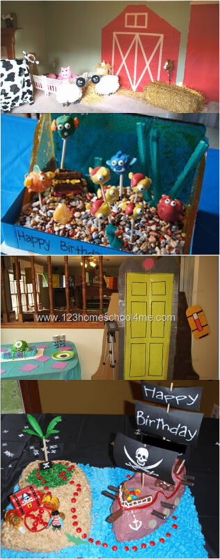 Tons of Clever birthday party ideas